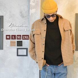 ストリートファッション メンズ シャツジャケット 秋冬 ウール ビッグシルエット オーバーサイズ おしゃれ アウター 韓国服 かっこいい 秋服 冬服 カジュアル BLACK HORSE ブラックホース