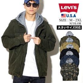 Levis リーバイス ジャケット メンズ ミリタリー フード 裏ボア LEVI'S ストリート系 ファッション LM8RC364