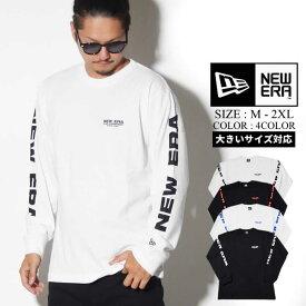 NEWERA ニューエラ Tシャツ メンズ 長袖 コットン Tシャツ ニューエラ キャップ カンパニー ホワイト × ブラック