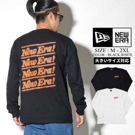 NEWERA ニューエラ ロングTシャツ メンズ ロンT 長袖 ファッション メンズ ストリート系 コットン カットソー ポップロゴ