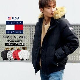 トミーヒルフィガー メンズ ダウンジャケット 大きいサイズ ブランド 冬 防寒 おしゃれ USA限定 TOMMY HILFIGER カジュアル ファッション セレブ レトロ 中綿 159AP863