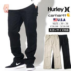 Hurley × Carhartt コラボ コットンパンツ メンズ ストレッチ 冬 コーデ BV2684 大きいサイズ