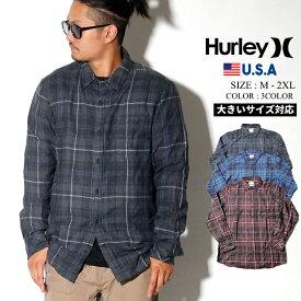 【ネコポス対応】 Hurley ハーレー カジュアルシャツ メンズ 長袖 チェック柄 BV1568 2019秋 新作
