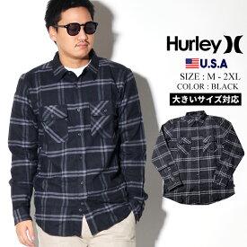 【ネコポス対応】Hurley ハーレー シャツ メンズ 長袖 おしゃれ カジュアル ブランド 冬 コーデ BV1560 大きいサイズ