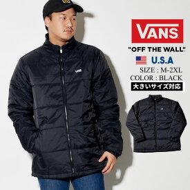 VANS バンズ 中綿ダウンジャケット メンズ 薄手 軽量 VN0A457HBLK 大きいサイズ