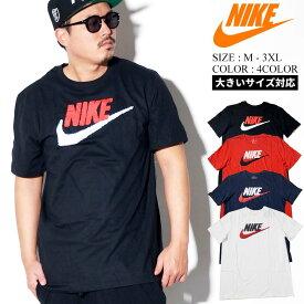 NIKE ナイキ Tシャツ メンズ 大きいサイズ 半袖 カットソー ロゴt スウッシュ Swoosh ユニセックス おそろい ペアt ストリート ファッション スポーツ
