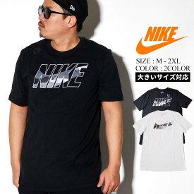 NIKE ナイキ Tシャツ メンズ 大きいサイズ 半袖 カットソー ロゴt 迷彩 カモ スウッシュ Swoosh ストリート ファッション スポーツ