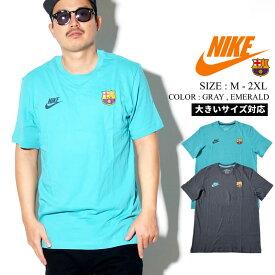 NIKE ナイキ Tシャツ メンズ 大きいサイズ 半袖 ロゴt スウッシュ Swoosh サッカー バルセロナ バルサ ストリートファッション スポーツ