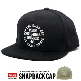 VANS バンズ キャップ スナップバックキャップ アジャスター 帽子 ファッション メンズ ストリート系 VN0A45DSBLK Vintage Barrel Snapback