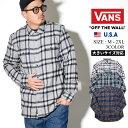 VANS バンズ タータンチェックシャツ メンズ 大きいサイズ フランネルシャツ ボタンダウン b系 ファッション ストリート スケーター カジュアル