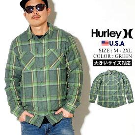 Hurley ハーレー ハーレープレミアム チェックシャツ 長袖 シャツ ストリート ファッション カジュアル チェック メンズ CREEPER WASHED LONG SLEEVE CJ5212