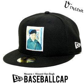 NEWERA ニューエラ キャップ 帽子 ベースボールキャップ 59FIFTY フィンセント・ファン・ゴッホ 包帯をした自画像 ブラック