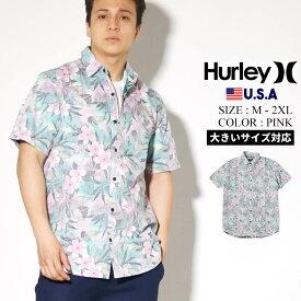【メール便対応】【ネコポス対応】Hurley ハーレー 半袖シャツ メンズ オープンシャツ カジュアルシャツ アロハシャツ ストリート ファッション スケーター サーフ 花柄 ボタニカル Spray Gun Short Sleeve CN5281