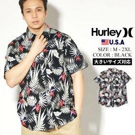 【メール便対応】【ネコポス対応】Hurley ハーレー 半袖シャツ メンズ オープンシャツ カジュアルシャツ アロハシャツ ストリート ファッション スケーター サーフ 花柄 ボタニカル Exotic Stretch Short Sleeve CN5283
