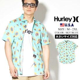 【メール便対応】【ネコポス対応】Hurley ハーレー 半袖シャツ メンズ オープンシャツ カジュアルシャツ アロハシャツ ストリート ファッション スケーター フルーツ 総柄 Harvest Stretch Short Sleeve CQ3996