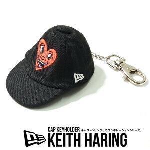 NEWERA ニューエラ キャップキーホルダー Keith Haring キース・へリング ハート キーリング B系 ストリート系 ファッション カジュアル