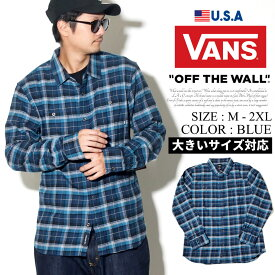 VANS【バンズ】長袖シャツ オープンシャツ メンズ B系 ファッション メンズ ヒップホップ ストリート系 ファッション HIPHOP