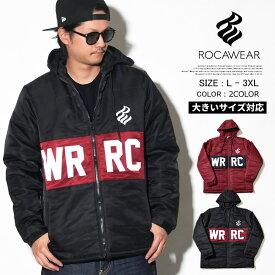ROCAWEAR ロカウェア 中綿ダウンジャケット メンズ ナイロン B系 ファッション メンズ ヒップホップ ストリート アメカジ