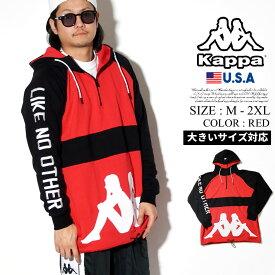 KAPPA カッパ パーカー メンズ プルオーバー トップス ロゴ BANDA B系 ファッション ヒップホップ ストリート系