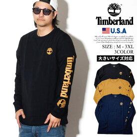 Timberland ティンバーランド ロンT メンズ 大きいサイズ 長袖Tシャツ USAモデル 袖プリント ロングスリーブ ロゴTシャツ TB0A1OHM ストリート ファッション アウトドア