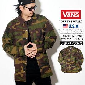 VANS バンズ 長袖シャツ オープンシャツ メンズ カモ 迷彩 B系 ファッション メンズ ヒップホップ ストリート系 ファッション HIPHOP