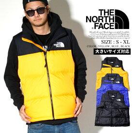 ノースフェイス ヌプシ ダウンベスト メンズ ロゴ プリント THE NORTH FACE 大きいサイズ USモデル NF0A3JQQ
