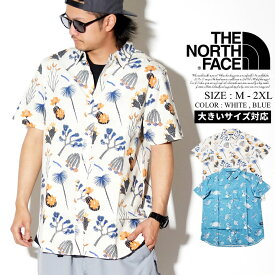 THE NORTH FACE ザノースフェイス 半袖シャツ カジュアルシャツ メンズ 半袖 総柄 B系 ファッション メンズ ヒップホップ ストリート系