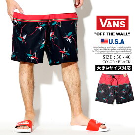 VANS バンズ ボードショーツ 水着 メンズ 花柄 B系 ファッション ヒップホップ ストリート系 ファッション HIPHOP