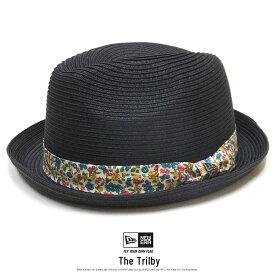 ニューエラ ストローハット 麦わら帽子 メンズ レディース NEW ERA ザ・フェドーラ フラワーバンド ブラック 11899141 夏