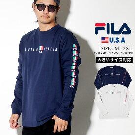 FILA フィラ ロングTシャツ メンズ 長袖 ロンT b系 ファッション ストリート系 大きいサイズ