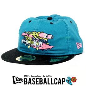 NEWERA ニューエラ キャップ 帽子 ベースボールキャップ RC 59FIFTY Santa Cruz サンタクルーズ SLASHER ブルー