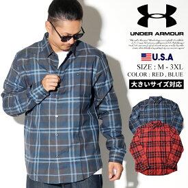 UNDER ARMOUR アンダーアーマー ネルシャツ メンズ ネルシャツ TRADESMAN 2.0 1345989