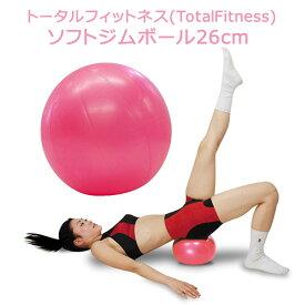 ソフトジムボール 26cm ピンク トータルフィットネス 〈 ヨガ ボール ソフト 体操 エクササイズ フィットネス ダイエット 〉