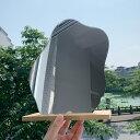 Lolover ウェーブミラー ウッド スタンド 付き 割れない 卓上 ルーム ミラー 波型 化粧 鏡 ベッドサイド オブジェ