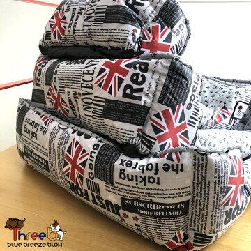 全部洗えるベッド新色ユニオンジャックサイズ中(60×50)ペット用クッションスリービーオリジナル商品