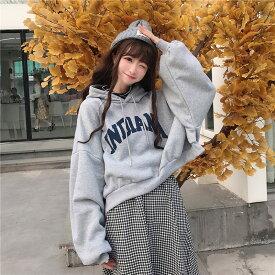 中学生 高校生 ファッション 韓国 パーカー 10代 大きいサイズ おしゃれ オーバーサイズ ビッグ ゆったり 大きめ レディース 2151