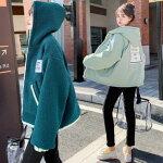 ボアコートボアブルゾンレディースおしゃれ冬リバーシブル韓国もこもこアウターボアジャケットマウンテンパーカーウインドブレーカーパーカー高校生ファッション10代20代中学生2373