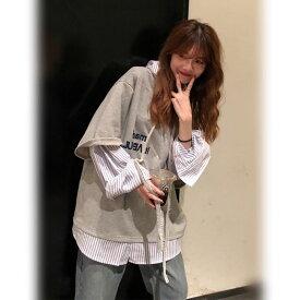 中学生 高校生 10代 20代 パーカー レディース 長袖 春 秋 トップス 韓国 ファッション 普段着 5305