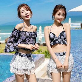水着 高校生 中学生 ビキニ おしゃれ レディース 学生 10代 20代 大きいサイズ 体型カバー 韓国 ファッション 5775