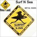 HAWAII HALEIWA Surf N Sea サーフ アンド シー SURFER X-ing メタルサイン 小 サーフショップ メタルプレート 雑貨【…