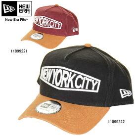 NEW ERA ニューエラ 9FORTY A-Frame NEW YORK CITY タンバイザー ニューヨークシティ 940 ヘビーウォッシュド ダックキャンバス【NEW ERA 11899221 11899222 マルーン ブラック キャップ 帽子】