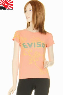 EVISU GENES LADIES エヴィスユーロ T-shirt orange EVISU EUROPEAN EDITION MADE IN ITALY which there is reason in