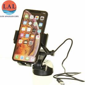 Iphone Xs XR XS max 充電OK 赤外線 ワイヤレス USBから 新型 車載ホルダー スマホホルダー 車載用 スマホ 車載ホルダー スマホスタンド 車 スマートフォン 車載ホルダー LAL(エルエーエル)【アメリカで人気の アイホンを充電できる 車載用 スマホホルダー ロス ライフ】