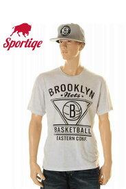 メール便 NEW YORK BROOKLYN NETS ニューヨーク ブルックリン ネッツ ブルックリン・ネッツ 半袖Tシャツ アッシュグレー メンズtシャツ【ブルックリン ネッツ メンズ 大きいサイズ グレー ブラック ホワイト 色 NBA Tシャツ プリントtシャツ NBA MADE IN USA】