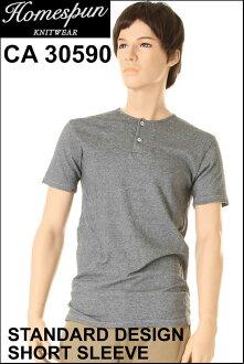 土布针织品 CA30590 短袖短袖圆领灰色内衣作在加拿大加拿大休闲