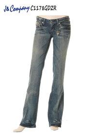 J&Company C1178GDZR jeans designs デニム ボトム ジーンズ パンツ レディース セレブ アメリカ フレアー【ジェイアンドカンパニー カジュアル 脚長美脚 小尻 タイト スリム リンス ニューヨークやロサンゼルスで大人気の! かっこいい】