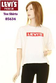 Levi's Ladies T-SHIRTS 85634-0006 WHITE リーバイス Tシャツ LEVI BOX LOGO ボックス ロゴ グラフィック ホワイト シロ 白 しろ 女性用 Tシャツ【Levis リーバイス レディース 限定 半袖Tシャツ ショートスリーブ 半袖 Tシャツ リーバイスロゴ Tシャツ シンプル 新品】