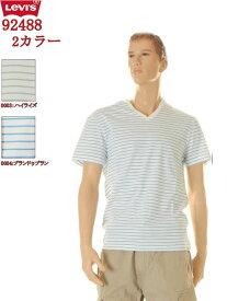 【LEVI'S】 Levi's【リーバイス ジーンズ】T-SHIRT Vネックティー ボーダー Tシャツ LOT 92488-0003 92488-0004(2カラー)