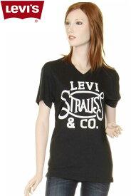 Levi's ladies T-SHIRTS 117500 LEVI STRAUS & CO ロゴ Vネック Tシャツ グラフィックTシャツ リーバイス【levis リーバイス レディース 半袖tシャツ ショートスリーブ 半袖 tシャツ リーバイスロゴtシャツ 新品】