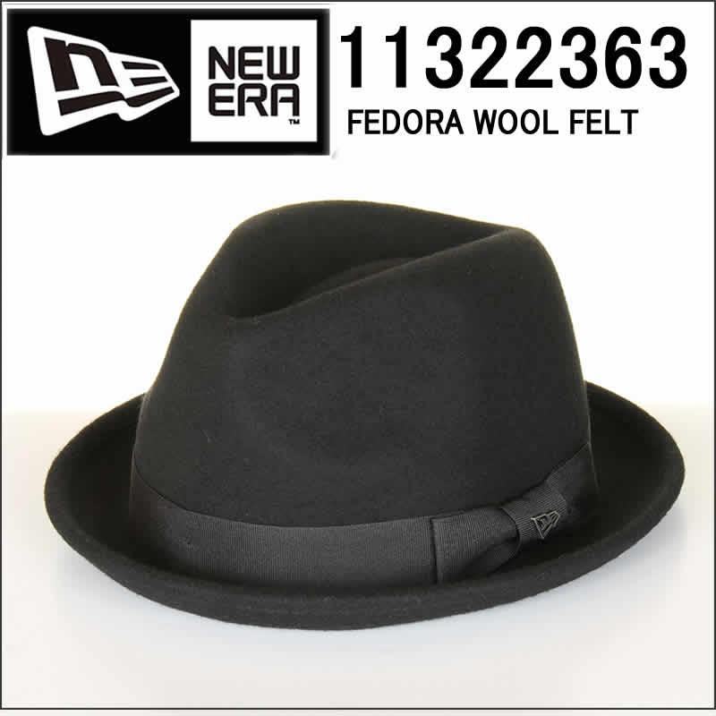 NEW ERA ニューエラ 11322363 FEDORA WOOL FELT フェドラ ウール フェルト ハット クラシカルハット ne 帽子 キャップ 中折れ帽 シンプル【NEWERA ブラック メンズ ウールキャップ ジャケット キャップ ぼうし 男性用 女性用】